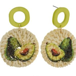 Jewelry - Avocado Straw Earrings